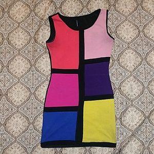 Color block night dress
